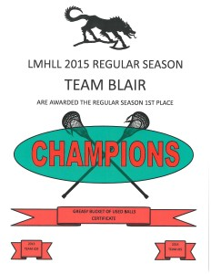TEAM BLAIR REG SEASON 2015